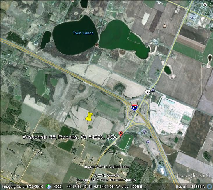 83 Acres For Sale on Highway 65 Roberts, WI